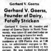 Gerhard V Goerss Stricken Perparing for Work, article (Tonawanda Evening News, 1971-01-19).jpg