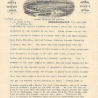 Eastern Lumber Company, letterhead (1899).png