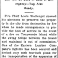 Protected from Fire, Ferry to Tonawanda Island, article (Tonawanda News, 1907-10-24).jpg