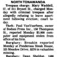 Bodoni Press computer theft, Police Beat (Tonawanda News, 1985-07-09).jpg