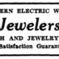 Leon Jewelers, logotype ad (Tonawanda News, 1947).png