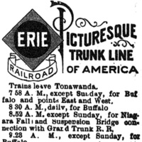Erie Railroad logo, ad (Tonawanda News, 1896-05).jpg