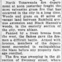 Typical mention of Black Hannah Woods, article about Grass Blaze (Tonawanda News, 1935).png