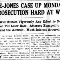 Hope-Jones case up Monday, prosecution hard at work, article (Elmira Star-Gazette, 1908-05-09).jpg