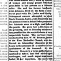 Black Hannah Gone, article obituary (Tonawanda Herald, 1883-06-28).jpg