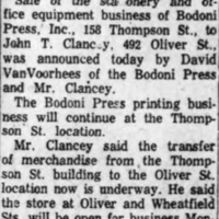 Bodoni Press sells staionery business, article (Tonaanda News 1955-11-02).jpg