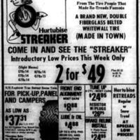 Meet the Streaker, Hurtubise tire ad (Tonawanda News, 1974-10-05).jpg