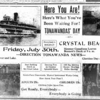 Tonawandas Day at Crystal Beach, photo, ad (Tonawanda News, 1915-07-17).jpg