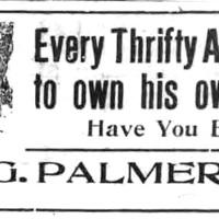 W. G. Palmer, illustrated ad (Tonawanda News, 1921-03-04).jpg