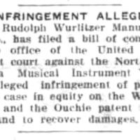 Infringement Alleged by Wurlitzer against NTMIW, article (Tonawanda News, 1921-07-15).jpg