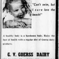 Goerss Dairy, ad (Tonawanda Evening News, 1958-07-15).jpg