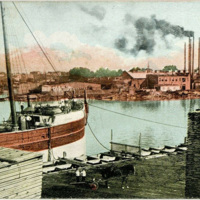 Portion of Harbor in Twin Cities, Goose Island, postacard (1910-06-15).jpg