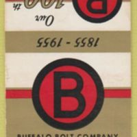 Buffalo Bolt, logotype, 100th anniversary matchbook (1955).jpg
