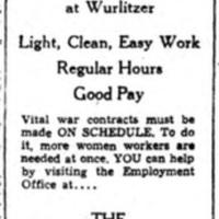 100 women needed now, ad (Rudolph Wurlitzer Co., 1945-02-22).jpg