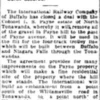 Payne Hill is sold for fill, article (Tonawanda News, 1916-01-25).jpg