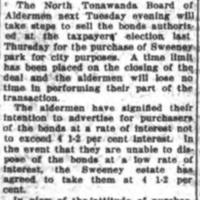 Sweeney Park Bonds to Be Offered for Sale, article (Tonawanda News, 1917-07-31).jpg