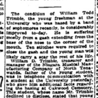 Trimble's son hazed, article (Syracuse Daily Journal, 1914-02-09).png