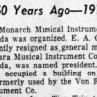 Olley organizes Monarch Musical Instrument Manufacturing Co., use Von Rohl building (Tonawanda News, c1911-12-28).jpg