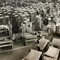 Wurlitzer North Tonawanda plant, men making jukebox cabinets, photo (c1950).JPG