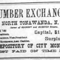 Lumber Exchange Bank, ad (Tonawanda News 1895).jpg