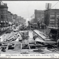 Main-Webster Street Bridge; north span, looking north, photo (NYSA, 1920-06-07).jpg