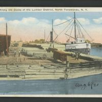 Along the Docks of the Lumber Districts, postcard.jpg