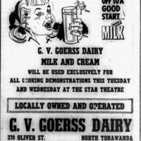 Goerss Dairy, ad (Tonawanda Evening News, 1959-04-20).jpg