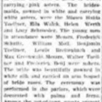Frank Morganti marries, NTMIW principals present, article (Tonawanda News, 1907-10-03).jpg