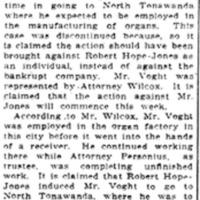 Hope-Jones employee wants money, article (Elmira Telegram, 1910-06-19).jpg