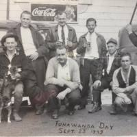 Men hanging out on Tonawanda Day, Martinsville, photo (1943-09-25).jpg