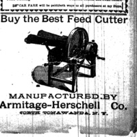 Armitage-Herschell Co., Buy the Best Feed Cutter, ad (Tonawanda News, 1897-07).jpg