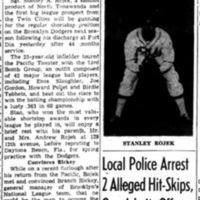 Twin Cities diamond star seeks shortstop berth with Dodgers, article (Tonawanda News, 1946-01-14).jpg