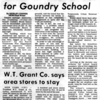Sands of time run out for Goundry School, article (Tonawanda News, 1975-10-09).jpg