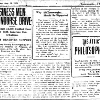 Business Men Indorse Drive, raise money for All Tonawandas football team, Kardex, article (Tonawanda News, 1920-08-24).jpg