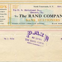 The Rand Company, Bank Stationers, illustrated receipt (1906-11-15).jpg