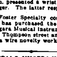 Niagara MIMC plant purchased by Foster Specialty Co., article (Buffalo Morning Express, 1917-10-03).png