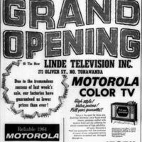 Linde Television, 272 Oliver, Grand Opening, ad (1964-02-27).jpg
