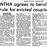 NTHA agrees to bend rules for elderly couple, article (Tonawanda News, 1978-06-05).jpg