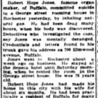 Robert Hope-Jones takes life by gas, article (Buffalo News, 1914-09-14).jpg