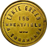 Ernie Green, 155 Wheatfield, North Tonawanda, token.jpg