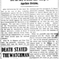 Central Must Pay for Death of Loeschnauer off swing bridge, article (Tonawanda News, 1907-05-11).jpg