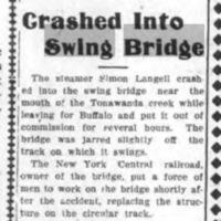 Crashed into Swing Bridge, article (Tonawanda News, 1907-12-05).jpg