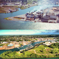 Tonawanda Island, c1960 vs 2017, drone photo by Joe Blake.jpg