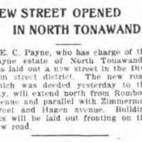 New street opened in North Tonawanda, Hyland, article (Tonawanda News, 1910-11-05).jpg