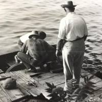 Men fishing, Big Bay Point, Martinsville, photo (c1945).jpg