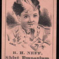 B. H. Neff Shirt Emporium, Kent's Block, trade card (1890s).jpg