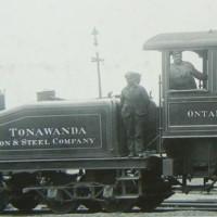 Tonawanda Iron and Steel Company locomotive, photo detail (1900s?).jpg