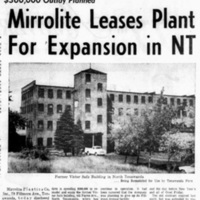 Mirrorlite Leases Plant for Expansion in NT, photo article (Tonawanda News, 1964-09-30).jpg