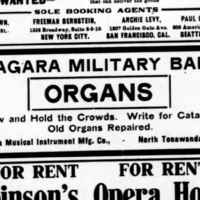 Niagara Military Bands, ad (Billboard, 1907).jpg