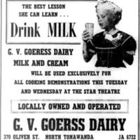 Goerss Dairy, ad (Tonawanda Evening News, 1957-02-18).jpg
